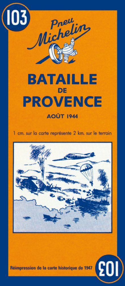Battle of Provence - Michelin Historical Map 103